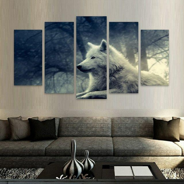 Online Shop Wolves Nature Hd Canvas Wall Art Modular Paintings On Inside Nature Canvas Wall Art (Image 14 of 20)