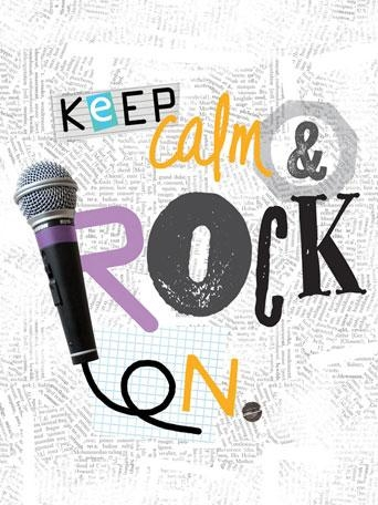 Oopsy Daisy Canvas Wall Art Keep Calm And Rock Onholli Conger For Keep Calm Canvas Wall Art (Image 20 of 20)