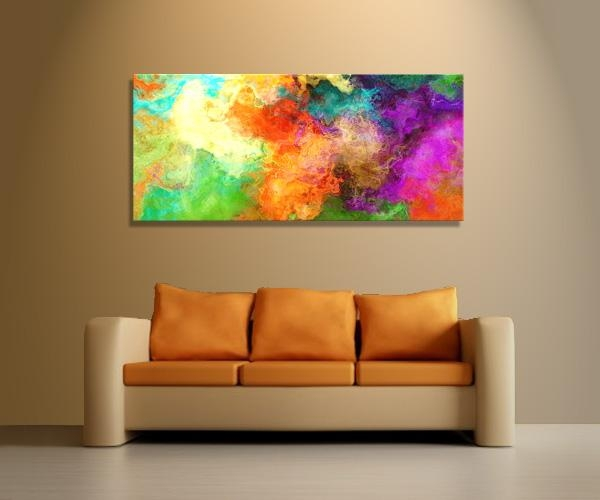 Orange Abstract Canvas Art Abstract Art Canvas Digital Painting Throughout Orange Canvas Wall Art (View 16 of 20)