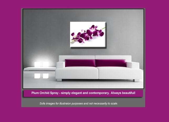Orchid Spray On White Single Canvas Wall Art 47 X 32 Inch 119 X 82 Cm Regarding Orchid Canvas Wall Art (View 18 of 20)