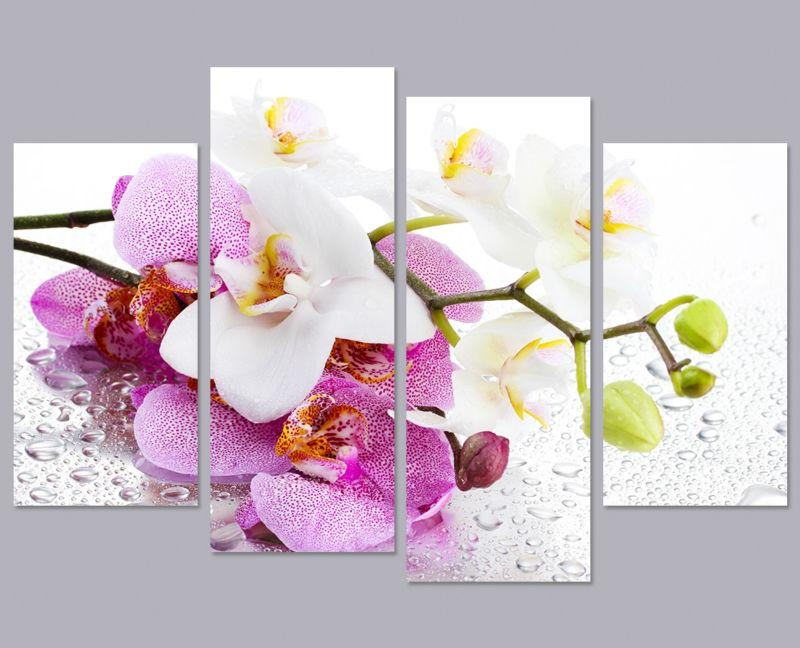 Orchid Wall Decor Image Collections – Wall Design Ideas For Orchid Canvas Wall Art (View 2 of 20)