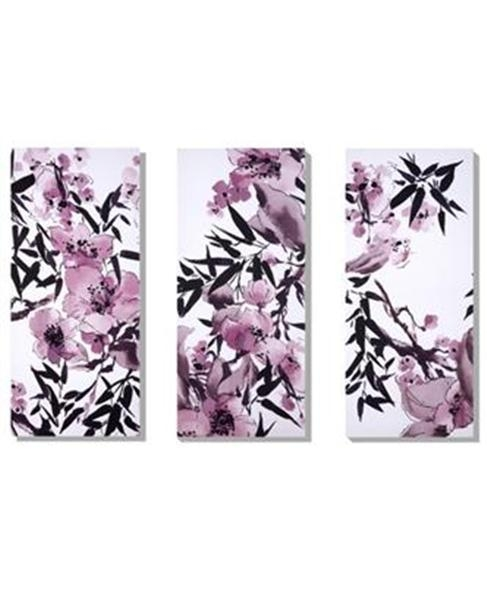 Oriental Chery Blossom Painted Canvas Painted Canvas Japanese Art For Japanese Canvas Wall Art (View 16 of 20)