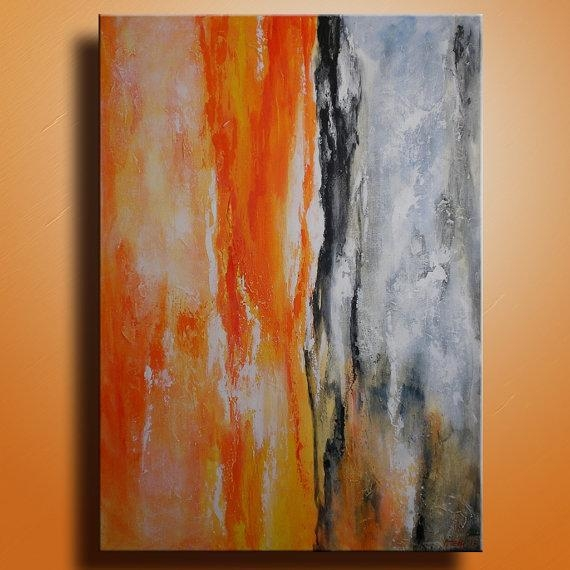 Original Abstract Painting On Canvas Contemporary Modern Art Pertaining To Abstract Art Wall Hangings (Image 14 of 20)