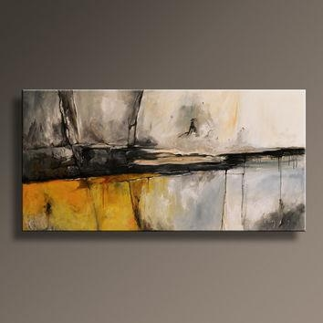 Original Textured Abstract Painting On From Itarts On Etsy With Gray Abstract Wall Art (View 3 of 20)