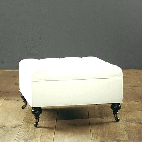 Ottoman With Casters Storage Ottoman With Wheels Lovable Storage Intended For Ottomans With Wheels (Image 6 of 10)