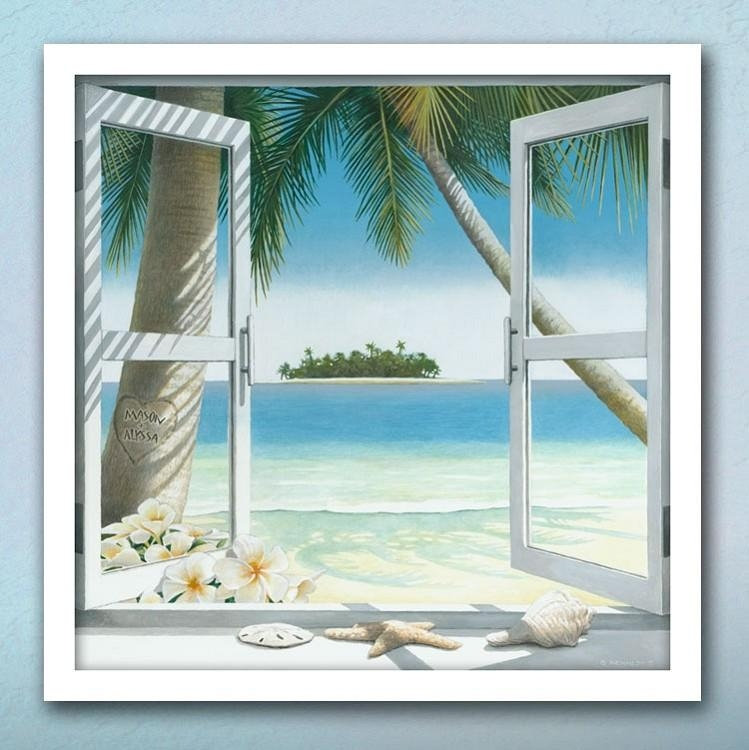 Our Island Getaway – Personalized Art | Pictures | Pinterest Throughout Canvas Wall Art Beach Scenes (Image 15 of 20)