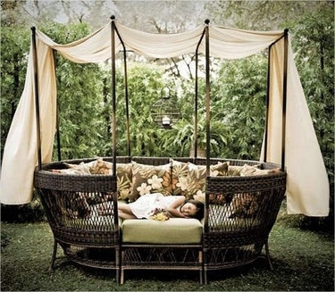 Outdoor Wicker Daybed With Canopy | Wooden Global Inside Outdoor Sofas With Canopy (Image 5 of 10)