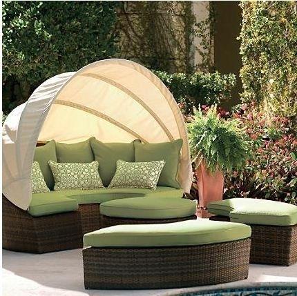 Outdoor Wicker Sofa Set Round Sofa With Canopy | In My Dreams In Outdoor Sofas With Canopy (Image 7 of 10)
