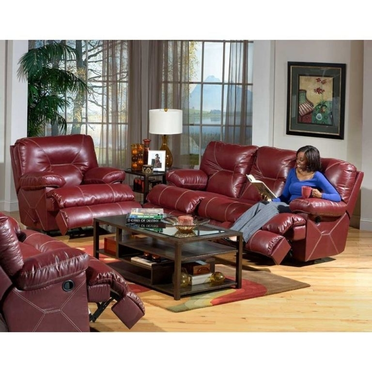 Outstanding Red Leather Reclining Sofa And Loveseat 97 With Within Red Leather Reclining Sofas And Loveseats (View 6 of 10)