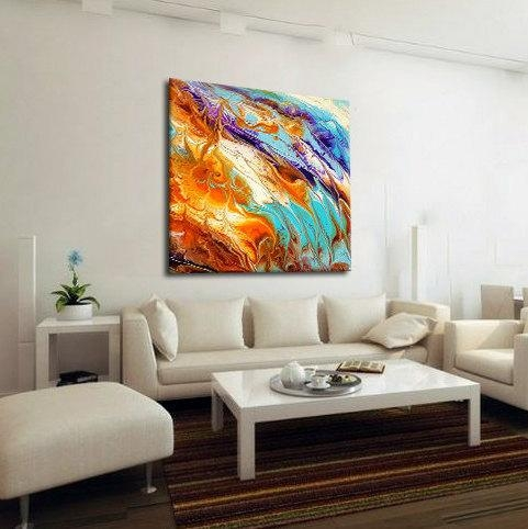 Oversized Abstract Canvas Print, Boho Wall Decor, Pastel, Extra Regarding Abstract Oversized Canvas Wall Art (Image 9 of 20)