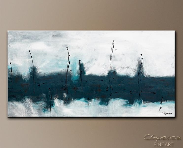 Oversized Abstract Wall Art – Blue Harbour – Huge Large Original Pertaining To Gray Abstract Wall Art (View 11 of 20)