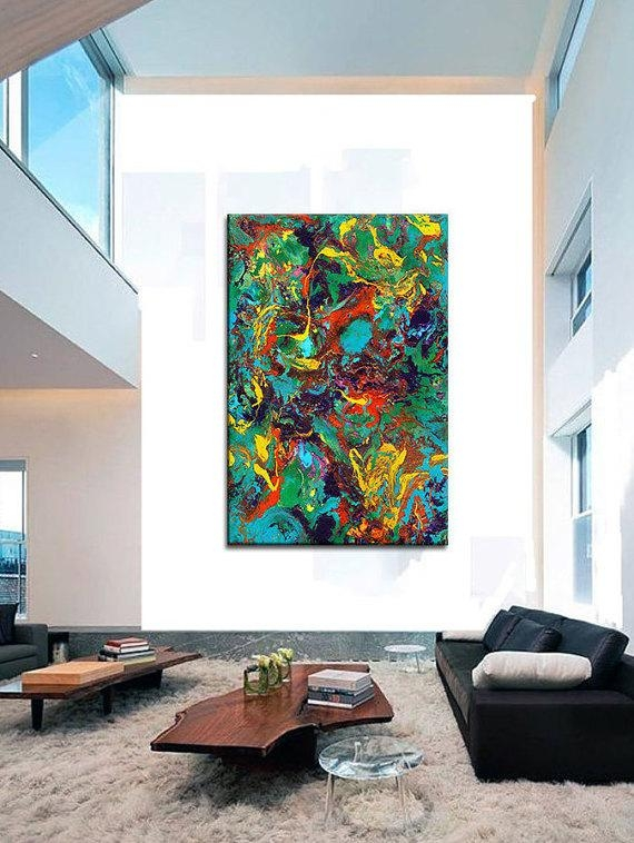 Oversized Canvas Wall Art Contemporary Abstract Prints Epoxy For Abstract Oversized Canvas Wall Art (Image 11 of 20)