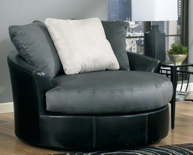 Oversized Round Chair Round Swivel Sofa Chair 6 Spinning Endearing Pertaining To Round Swivel Sofa Chairs (Image 3 of 10)