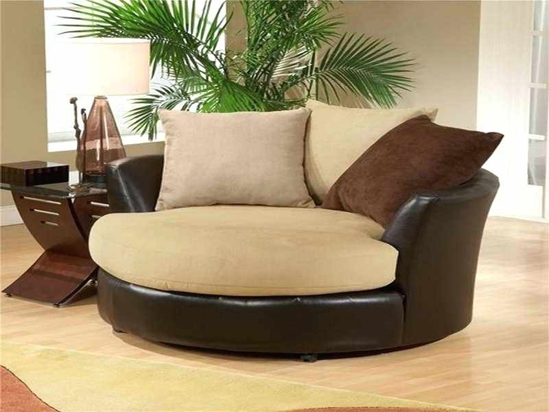 Oversized Round Swivel Chair Amusing Round Sofa Chair Living Room With Regard To Round Swivel Sofa Chairs (Image 4 of 10)