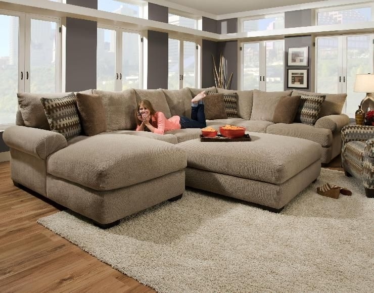 Oversized Sectional |  Gallery Of The Avoiding Overstuff Room With Sectional Couches With Large Ottoman (Image 6 of 10)