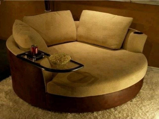 Oversized Swivel Round Chair Would Love Something Like This If We For Spinning Sofa Chairs (Image 3 of 10)