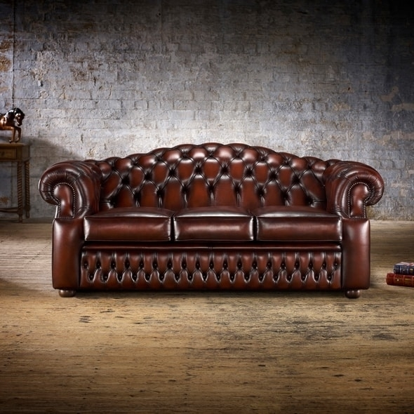 Oxford 3 Seater Sofa – From Timeless Chesterfields Uk Regarding Oxford Sofas (Image 5 of 10)
