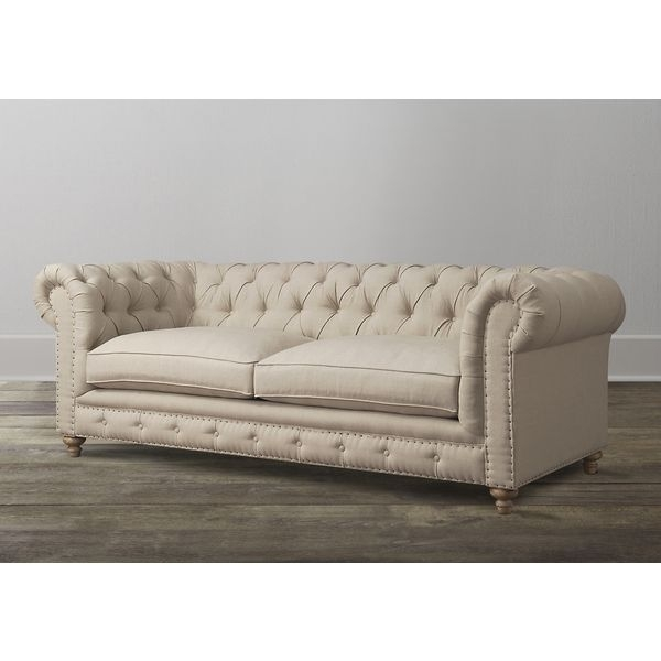 Oxford Beige Linen Sofa – Overstock™ Shopping – Great Deals On Sofas Inside Oxford Sofas (Image 6 of 10)