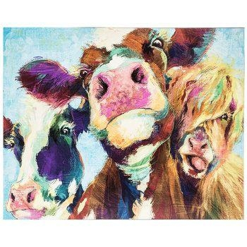 Painted Cows Wood Wall Decor | Hobby Lobby | Wall Art | Pinterest With Regard To Hobby Lobby Abstract Wall Art (Image 17 of 20)