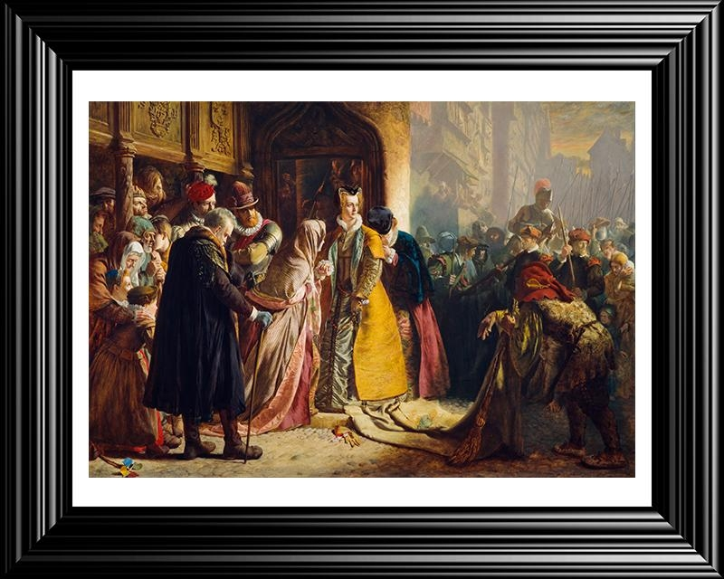 Painting Of Return Of Mary Queen Of Scots To Edinburgh Large With Edinburgh Canvas Prints Wall Art (Image 16 of 20)