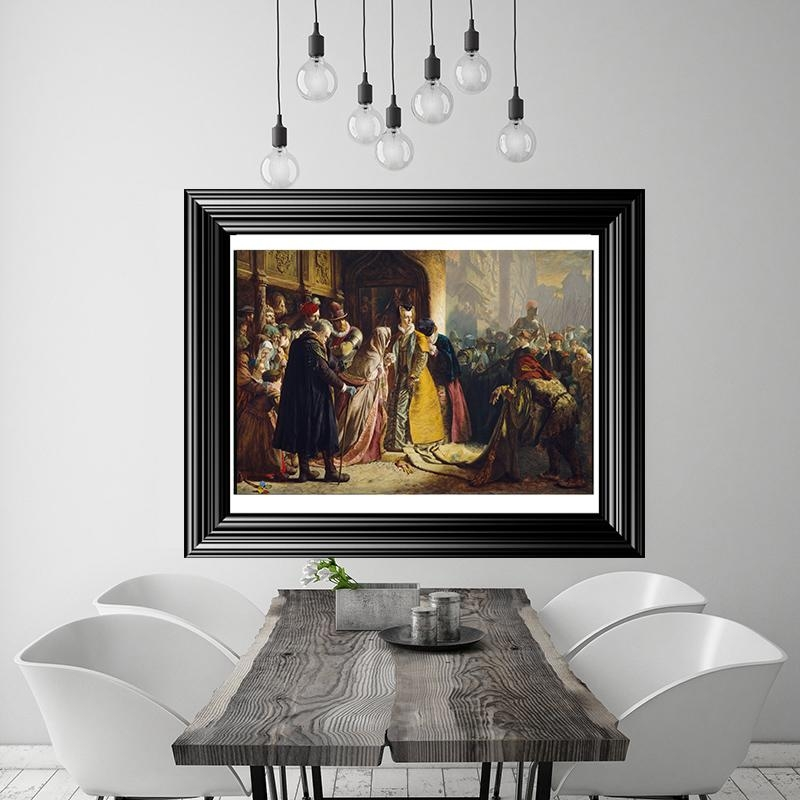 Painting Of Return Of Mary Queen Of Scots To Edinburgh Large Within Edinburgh Canvas Prints Wall Art (Image 17 of 20)