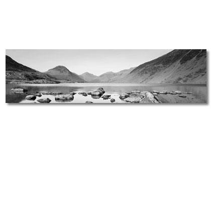 Panoramic Canvas Prints Of Lake District. Black And White Canvas Art. Within Lake District Canvas Wall Art (Photo 5 of 20)