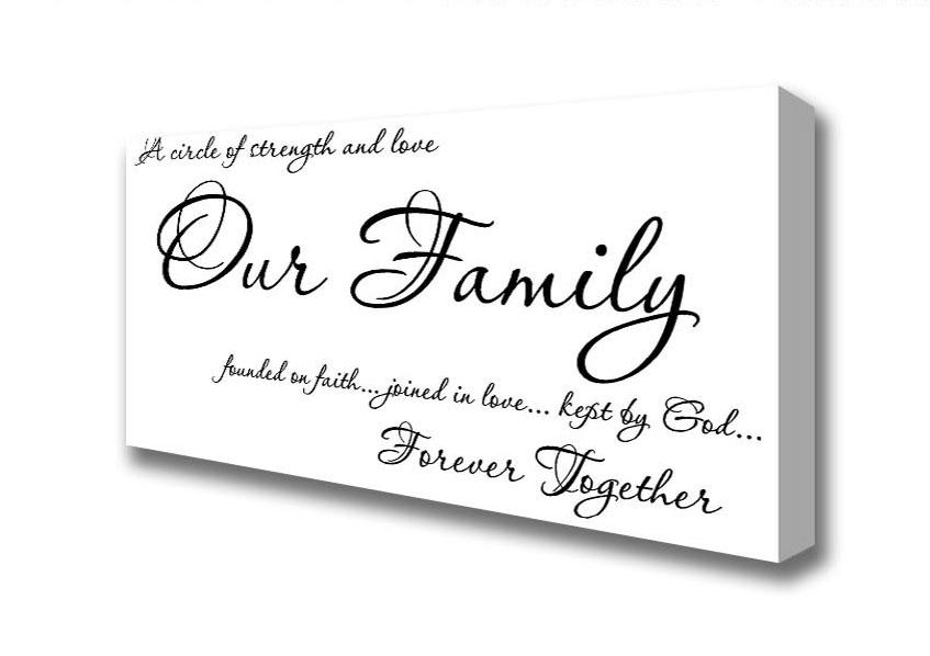 Panoramic Our Family Together Forever Canvas Art Prints For Canvas Wall Art Family Quotes (Image 12 of 20)
