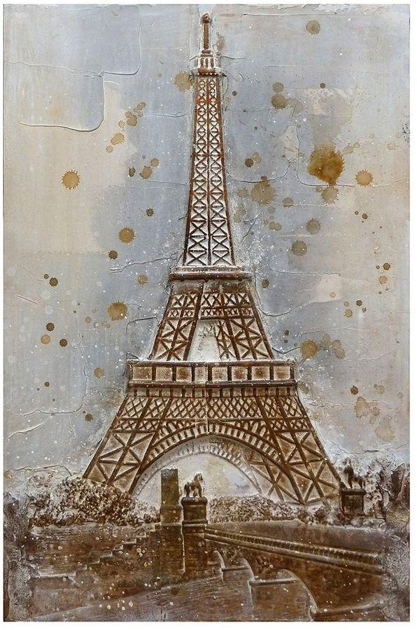 Paris Eiffel Tower 3D Canvas Wall Art | It's The French In Me Throughout Eiffel Tower Canvas Wall Art (Image 14 of 20)