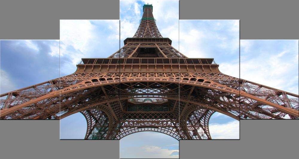 Paris Eiffel Tower Paintings Wall Art Canvas Prints Pictures Pertaining To Eiffel Tower Canvas Wall Art (Image 17 of 20)
