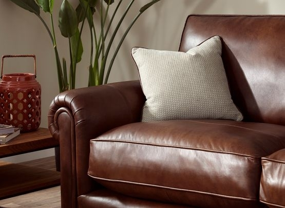 Parker Knoll Canterbury Large 2 Seater Leather Sofa | House Of Throughout Canterbury Leather Sofas (Image 8 of 10)