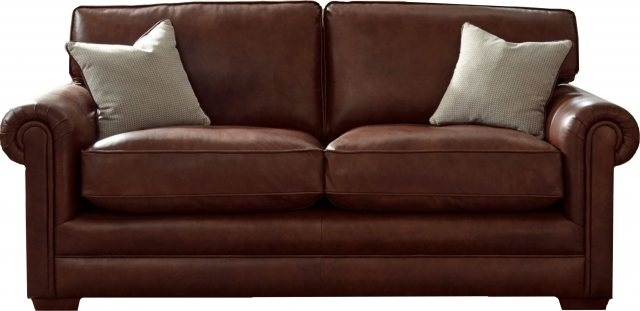 Parker Knoll Canterbury Leather Grand Sofa – 3 Seater – Padfields Intended For Canterbury Leather Sofas (Image 9 of 10)