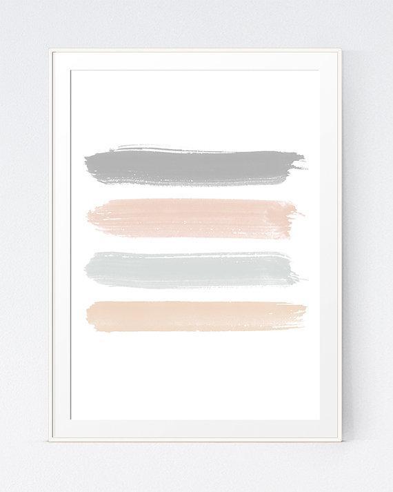 Pastel Abstract Art Peach Abstract Wall Print Abstract Within Pastel Abstract Wall Art (View 19 of 20)