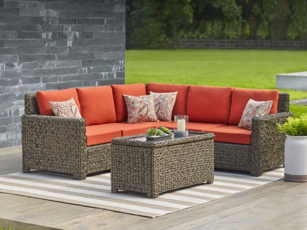 Patio Furniture – The Home Depot Intended For Patio Sofas (Image 7 of 10)