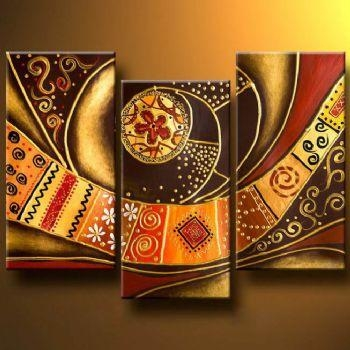 Patterned Belt Modern Abstract Oil Painting Wall Art With Within Abstract Art Wall Hangings (Image 15 of 20)