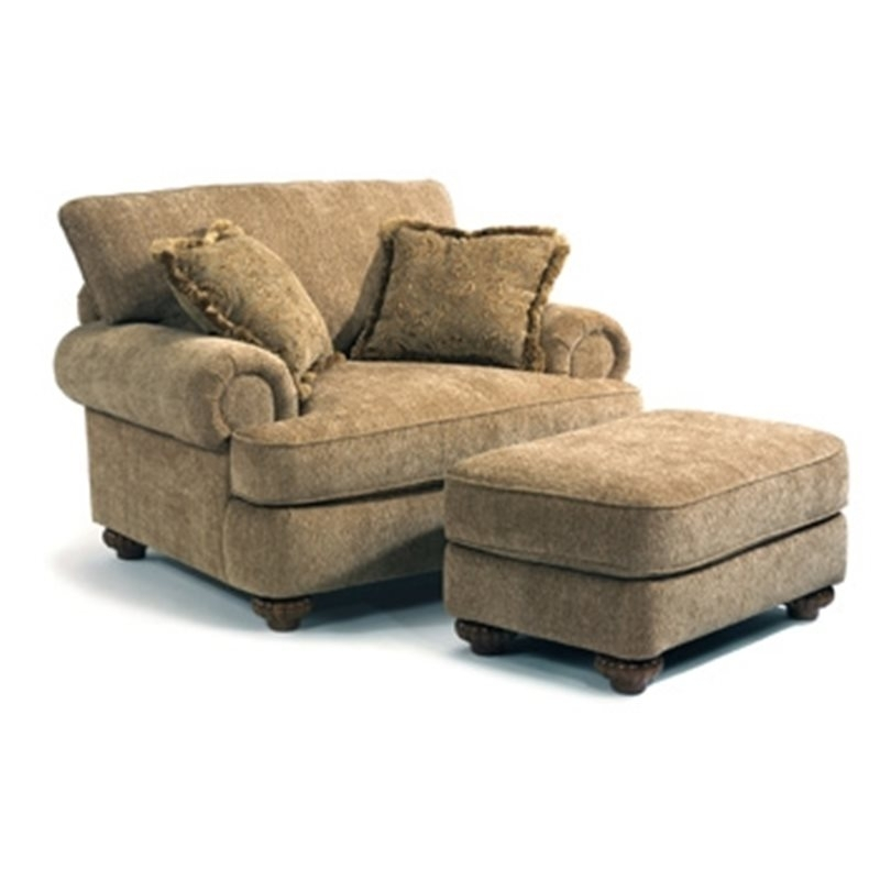 Patterson Fabric Chair & Ottoman – Eaton Hometowne Furniture – Eaton Regarding Chairs With Ottoman (Photo 7 of 10)