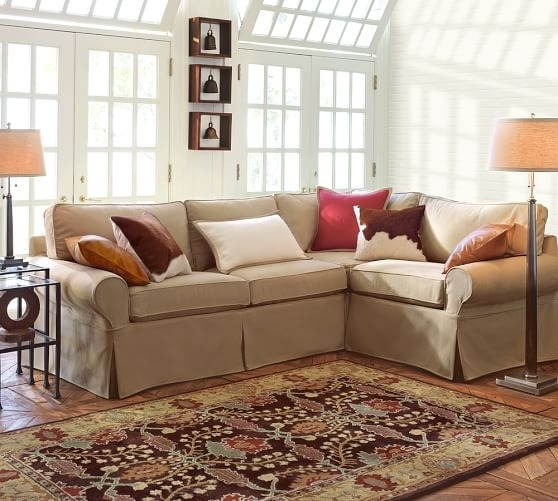 Pb Basic Slipcovered 3 Piece Sectional | Pottery Barn Intended For Pottery Barn Sectional Sofas (Image 6 of 10)