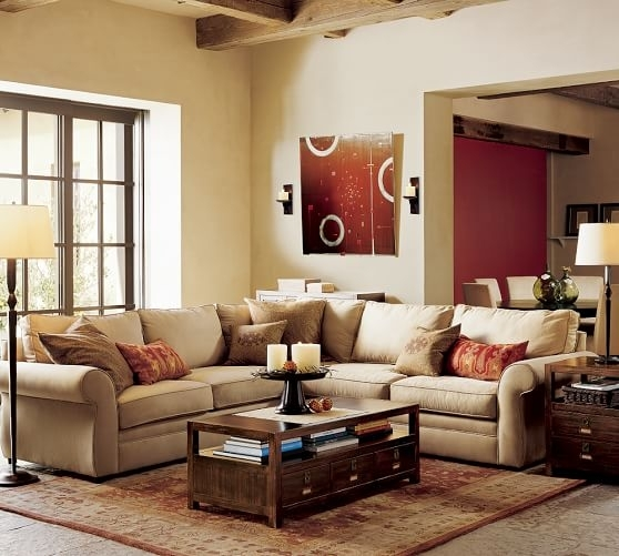 Pearce Upholstered 2 Piece L Shape Sectional | Pottery Barn Throughout Pottery Barn Sectional Sofas (Photo 6 of 10)