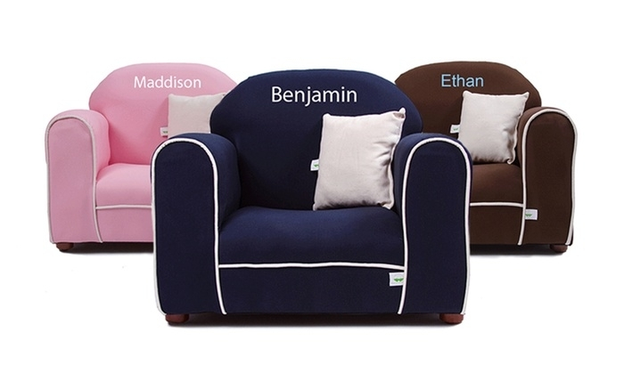 Personalized Plush Kids Chair – Little Furniture | Groupon In Personalized Kids Chairs And Sofas (Image 6 of 10)