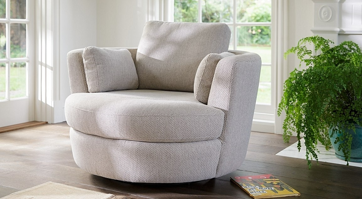 Petite Snuggle | Leather, Fabric, Occasional Chairs | Plush Furniture With Regard To Snuggle Sofas (Image 8 of 10)