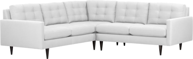 Petrie 2 Piece Sectional Sofa | Crate And Barrel, $3500, 96X96 For 96X96 Sectional Sofas (View 8 of 10)