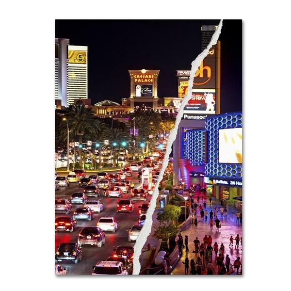 Philippe Hugonnard 'the City Of Las Vegas' Canvas Wall Art – Free Intended For Las Vegas Canvas Wall Art (Image 16 of 20)