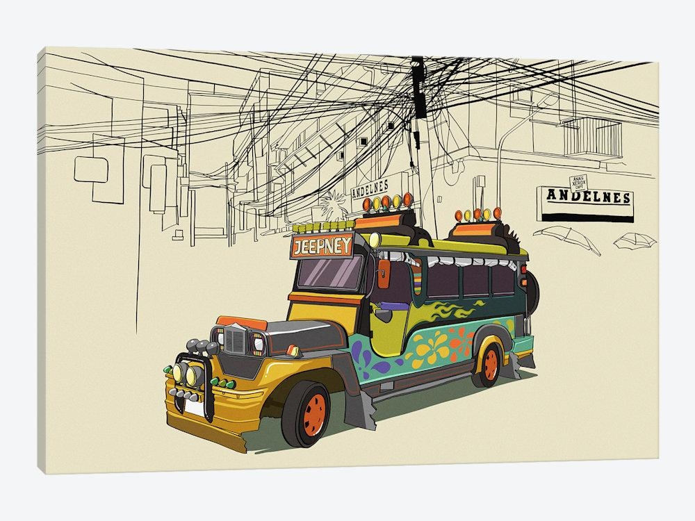 Philippines – Jeepney Canvas Artwork5By5Collective | Icanvas Inside Canvas Wall Art Of Philippines (Image 11 of 20)