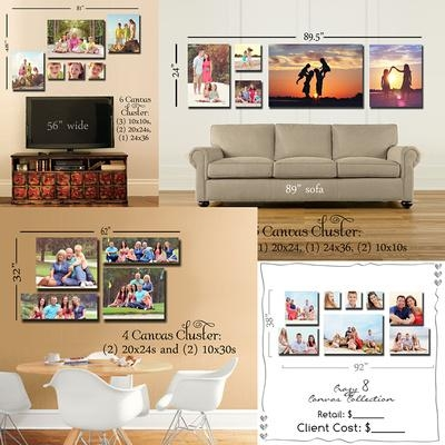 Photoshop Wall Canvas Grouping Templates | Decorating Ideas For Groupings Canvas Wall Art (Image 16 of 20)