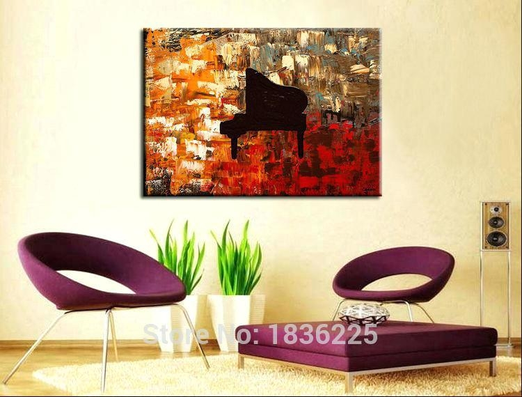Piano Wall Art Online Shop Hand Painted Wall Art Abstract Piano Throughout Abstract Piano Wall Art (Image 19 of 20)