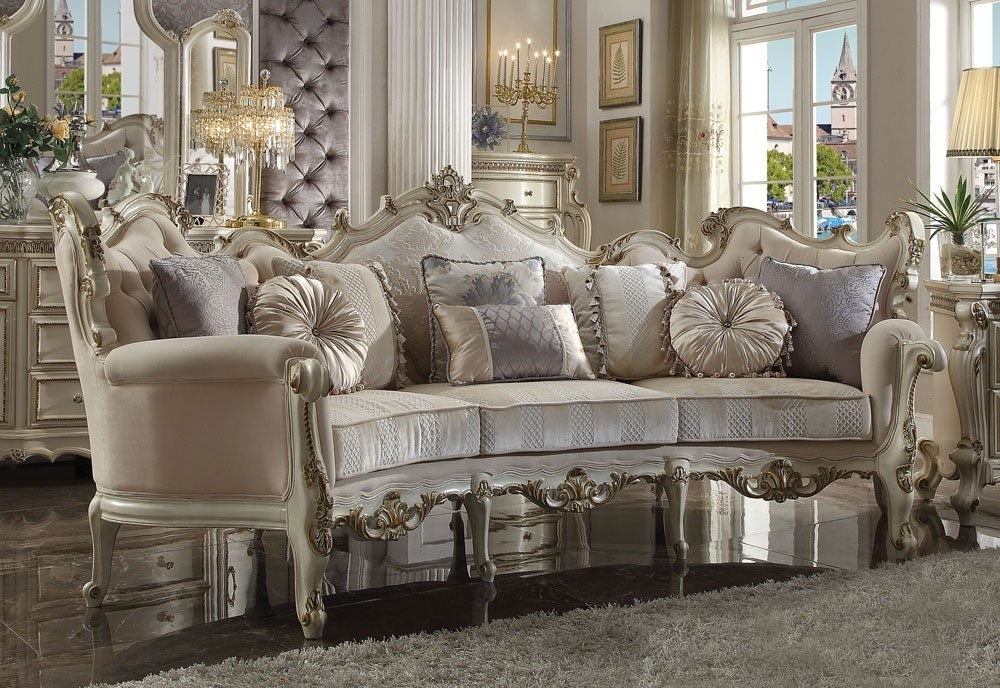 Picasso French Style Oversized Sofa With French Style Sofas (Image 7 of 10)