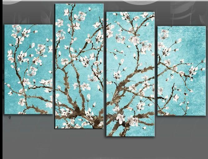 Pinakshay On Art | Pinterest | Duck Egg Blue, Blossom Trees Intended For Duck Egg Blue Canvas Wall Art (Image 14 of 20)