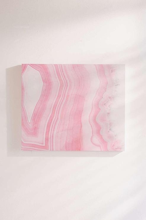 Pink Agate Canvas Wall Art Regarding Pink Canvas Wall Art (Image 8 of 20)