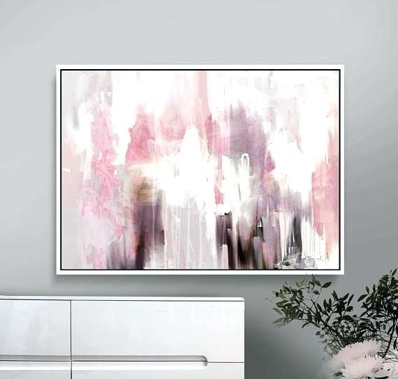 Pink And Grey Wall Art Printable Abstract Art Pink And Grey Decor Regarding Printable Abstract Wall Art (View 7 of 20)