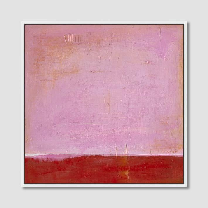 Pink On Red Wall Canvas Art With Pink Abstract Wall Art (Image 17 of 20)