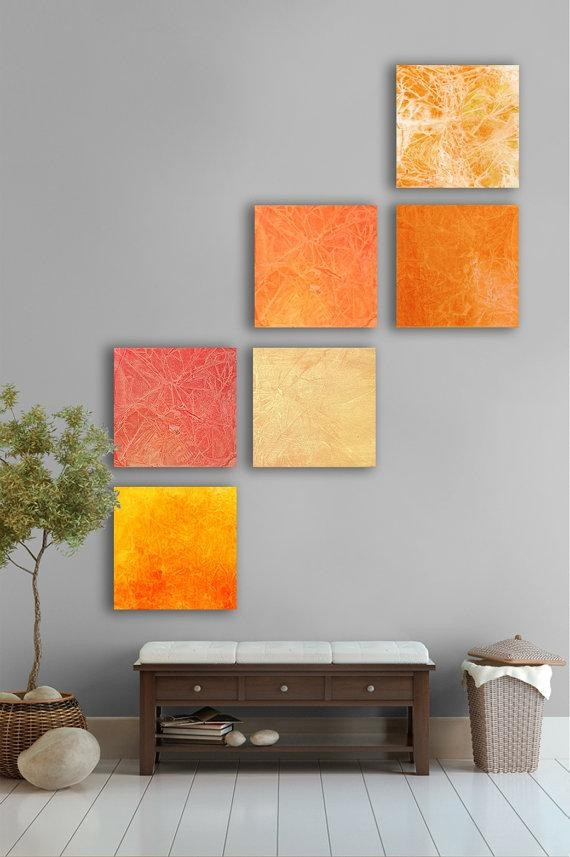 Pinkara Rodriguez On Bedroom | Pinterest | Large Abstract Wall For Abstract Orange Wall Art (Image 14 of 20)